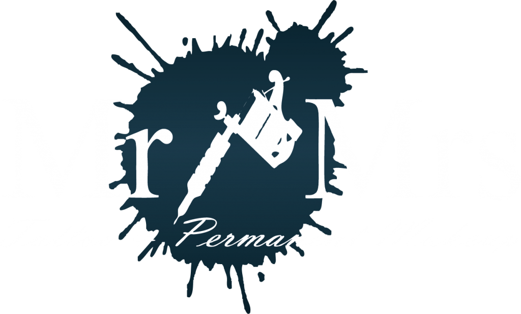 Mr&Mrs Tattoo og Permanent Makeup logo light
